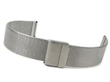 Junghans Max Bill Chronoscope Wrist Watch Band 20mm Milanaise Stainless Steel