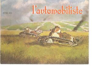 L'AUTOMOBILISTE 50 1978 ALEXANDRE DARRACQ V8 CHAR RENAULT FT 17 1918 1945