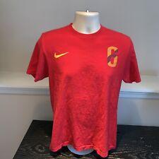 Andres Iniesta Espana Spain National Soccer Team T Shirt Nike Futbol Mens Medium