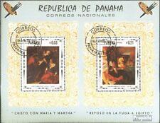 Panamá Bloque 81 (edición completa) usado 1968 Jesús Cristo pinturas
