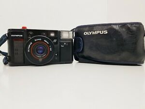 Vintage Olympus Quick Flash AFL 35mm Camera Zuiko 38mm F2.8 Lens with Case