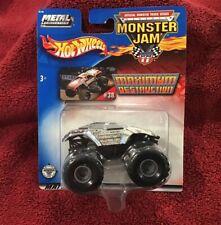 Hot Wheels Monster Jam Monster Truck Maximum Destruction Silver Chrome #38 2002