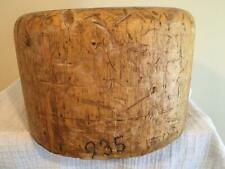 wooden OVERSIZED square crown /MILLINERY WOOD BLOCK HAT MAKING /FORM/MOLD/BRIM