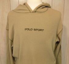 Ralph Lauren Polo Sport Men's Thermal Hooded Shirt Size XL Long Sleeve Green