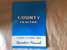 county tractor super 4- 654 operators manual genuine