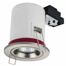 FIRE RATED DOWNLIGHT GU10 FIXED RECESSED CEILING SPOTLIGHTS LIGHT TWIST & LOCK