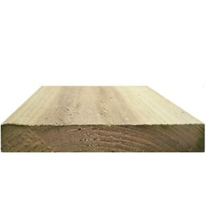 """6"""" x 1"""" Pressure Treated Timber Gravel Board Treated Cladding Sample"""