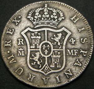 SPAIN 4 Reales 1796 - Silver - Carlos IV - VF- 1212 ¤