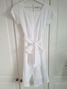Oliver Bonas Summer White Dress Size 6, Xs