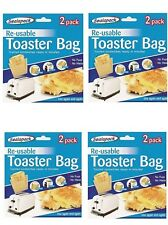 8  Reusable Toaster/Toast Bags/Pockets Toasty/Toastie Sandwich/Toastabags P&P