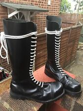 20 hole steel toe cap Underground Rangers boots size uk 8 eu 42
