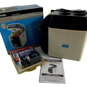Vector Travel Cooler & Warmer w AC DC Converter Portable Drinks Camping RV