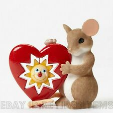 Members Only Your Sunny Smile Warms My Heart Charming Tails Figurine Enesco Mice