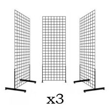 Display Grid Rack 3 Pack 6 ft Panel Retail Metal Stand Store Art Craft Organizer
