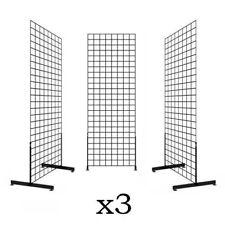 Display Grid Rack 3 Pack 6 Ft Panel Retail Metal Stand Store Art Craft Organizer