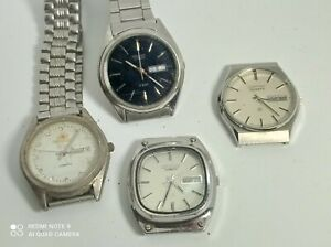 LOT ORIENT QUARTZ WATCHES DOSENT WORK FOR PARTS SPARES OR REPAIR PROJECT