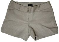 The Limited Cotton Gray Summer Shorts Size 6 Woman's Geometric Textured Pattern