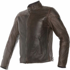 Dainese Mike Mens Leather Motorcycle Jacket Dark Brown 50 USA / 60 Euro