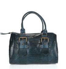 Womens Longchamp Kate Moss Gloucester Peacock Blue Croc leather duffle bag