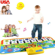 US  Touch Play Keyboard Musical Music Singing Gym Carpet Mat Best Kids Baby Gift