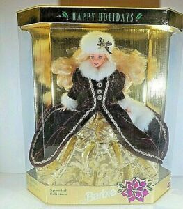 """Mattel  1996 Barbie """" Happy Holidays """" Special Edition"""