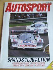 AUTOSPORT MAGAZINE JUL 1986 BRANDS 1000 ACTION JAGUAR BEATEN AT HOME TORONTO IND
