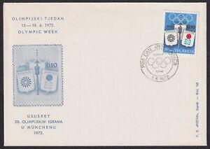 Yugoslavia, 1972, Olympic Week, Tax obligatory stamps, rare FDC (Zagreb)