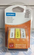 Dymo Labels Personal Labelmaker LetraTag With Metallic Style Labels Triple Pack