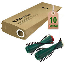 10 Staubbeutel + Bürsten geeignet für Vorwerk Kobold 119 120 121 122