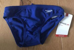 """Boys speedo logo swimming trunks 26"""" waist"""