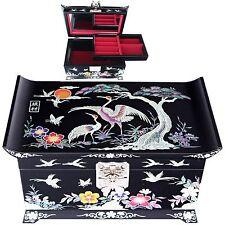 Korea Antique Mother Pearl Jewelry Box  Jewelry  Organizer Women Gift Item 5001Q