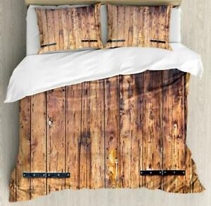 Rustic Duvet Cover Set Twin Queen King Sizes with Pillow Shams