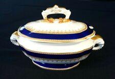 Beautiful Royal Worcester Regency Blue Tureen