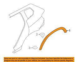 Flare Wheel arch Right Rear Genuine BMW X3 F25 X4 F26 M Sport 51778052078