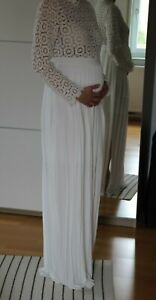 Schönes Hochzeits- Umstandskleid, weiß, Spitze, Größe 36