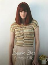 Debbie Bliss Simply Silk Pattern Book Cardigan, Bolero, Tank Top, Scarves