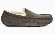 UGG Mens ASCOT Suede Slippers in Charcoal UK9 US10 EU43