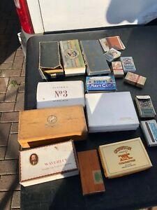 VINTAGE TOBACCO CIGARETTE BOXES PACKETS SOME RARE CHURCHMAN NO1 RUBINS NAVY CUT