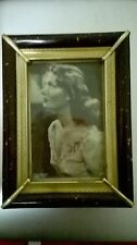 ELSA DE GIORGI - FOTO IN CORNICE ORIGINALE ANNI 40 15 cm X 19