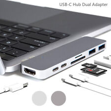 USB Adapter USB C Hub Type-C Adapter with 7 Multiport Ports for Macbook Pro US