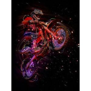 Electric Light Motocross Bike Large Canvas Wall Art Print