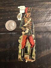British Soldier Antique Die Cut Paper Doll Hussars Raphael Tuck
