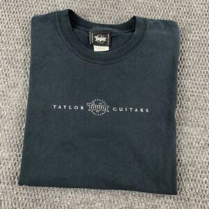 Vintage Y2K Adult Large Short Sleeve T Shirt Taylor Quality Guitars Music Tee