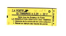 Liberté 2,20 F rouge - Carnet 2376 C 10  daté du 7.15/4/88  - GT - 40 ème tirage