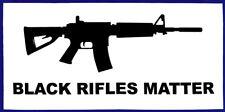 Wholesale Lot of 6 Black Rifles Matter White Black Decal Bumper Sticker