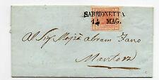 ANTICHI STATI 1851 LOMBARDO VENETO  15 CENT. I° TIPO SABBIONETA 14/5 N°RIF 9560