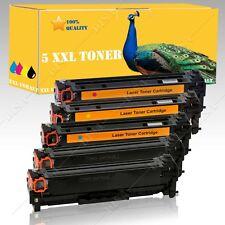 5x non-OEM Cartouche d'encre alternative pour HP Color Laserjet CP2025 CP2025N