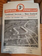 1953 Rugby Union  Twickenham Combined Services v New Zealand  Official Programme