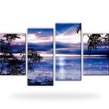 Sonnenuntergang Meer Natur Bild Bilder Wandbild Kunstdruck 4 Teilig