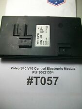 TESTED 2001 Volvo S40 V40 Central Electronic Module LHD 30621304  #T057